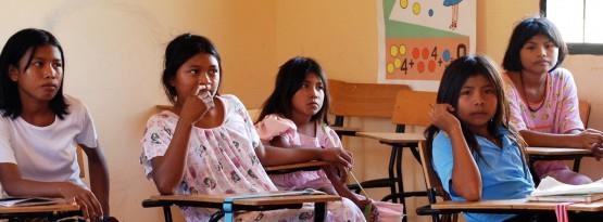 Indigenous Wayuu children in the village of Pessuapa, Colombia. UN Photo/Gill Fickling - (Crianças Indígenas Wayuu na vila de Pessuapa, Colômbia. Foto da ONU / Gill Fickling)